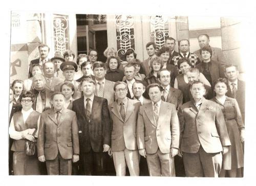 Фото_з_архіву_Радехівської_бібліотеки_День_преси_м._Радехів_5_травня_1980_рік
